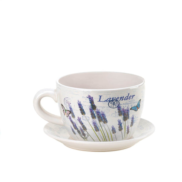 Lavender Fields Teacup Planter - Red Dragon Unleashed