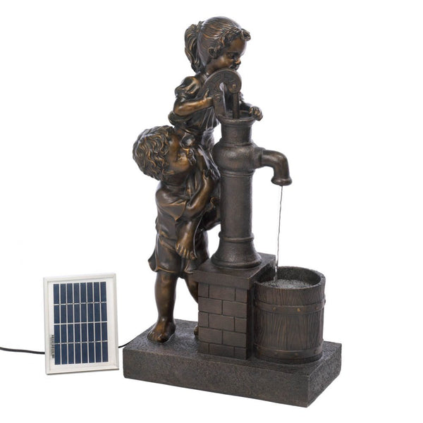 Teamwork Water Pump Solar Fountain - Red Dragon Unleashed