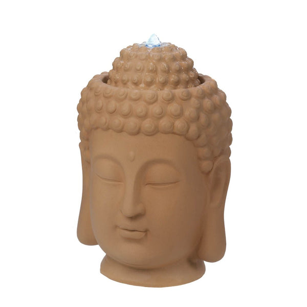 Calming Buddha Head Fountain - Red Dragon Unleashed