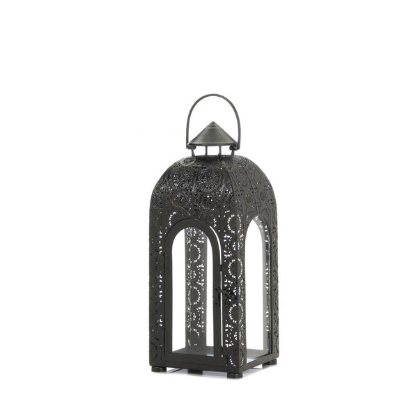 Arched Small Black Medallion Lantern - Red Dragon Unleashed