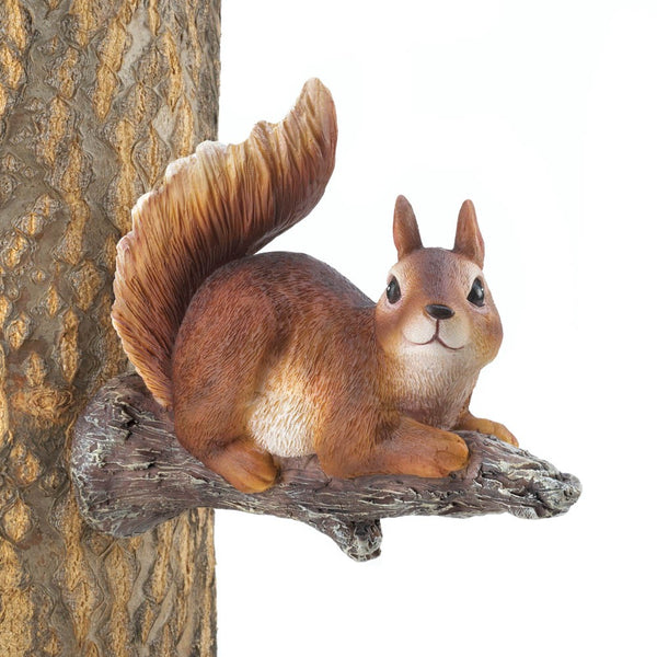 Lounging Squirrel Tree Decor - Red Dragon Unleashed