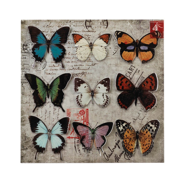 Collage Butterfly Tin Wall Art - Red Dragon Unleashed