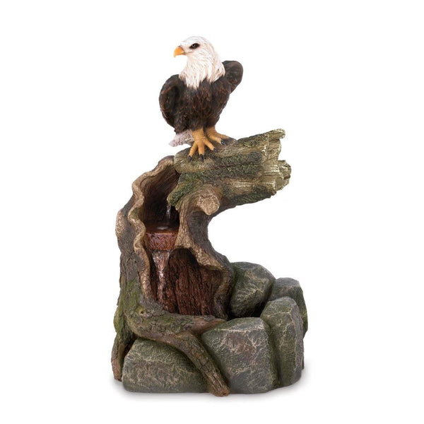 Majestic Eagle Water Fountain - Red Dragon Unleashed
