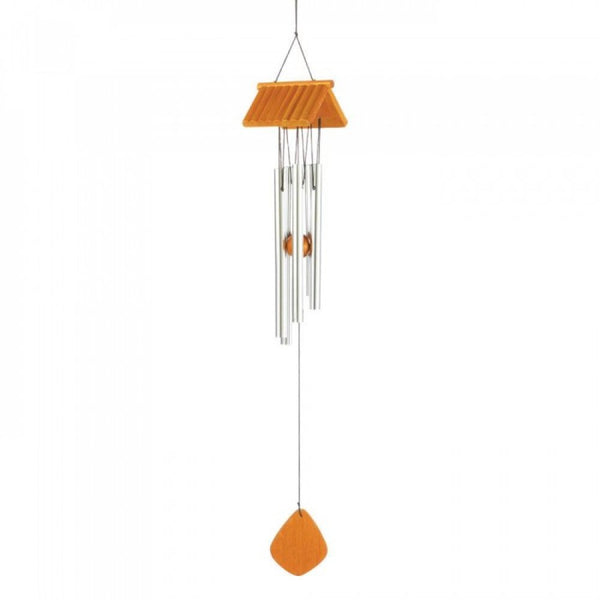 Log Cabin Roof Wind Chime - Red Dragon Unleashed