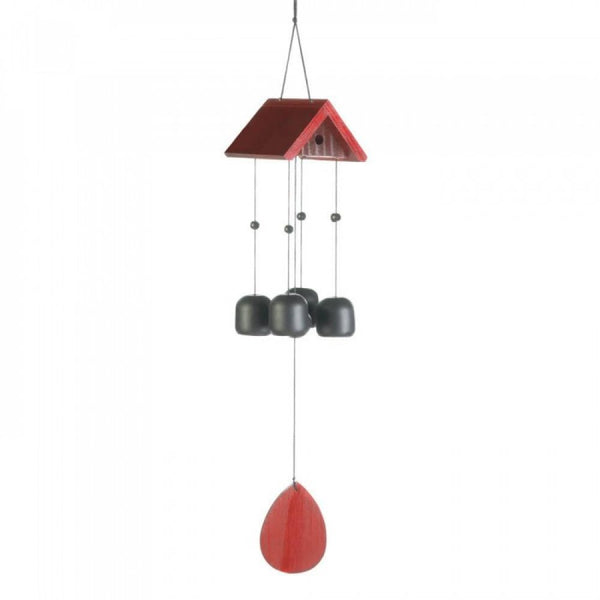Birdhouse Roof Windchime - Red Dragon Unleashed