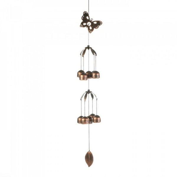 Butterfly Double Tier Bell Wind Chime - Red Dragon Unleashed