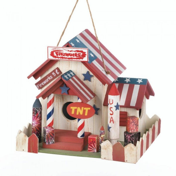 Fireworks Stand Birdhouse - Red Dragon Unleashed