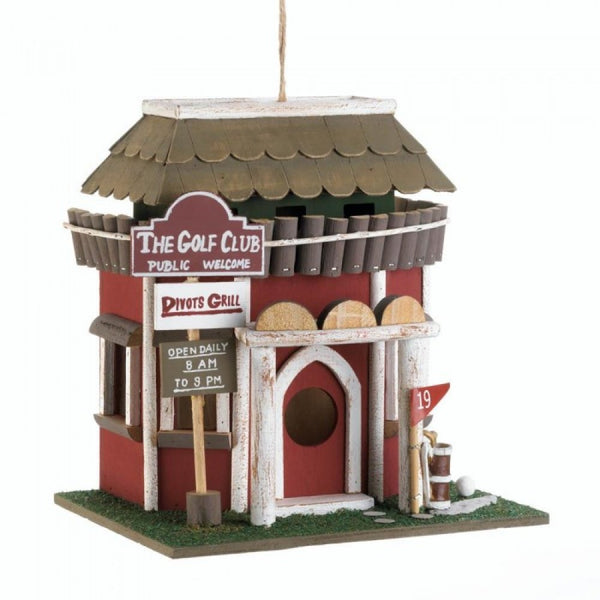 Golf Course Clubhouse Birdhouse - Red Dragon Unleashed