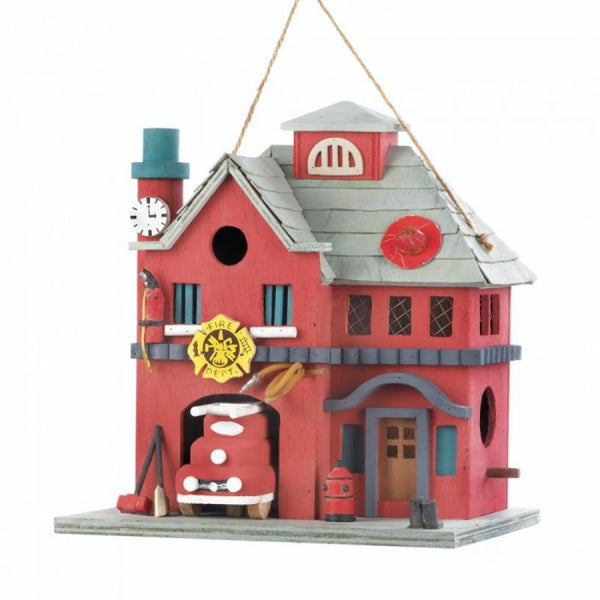 Fire Station Birdhouse - Red Dragon Unleashed
