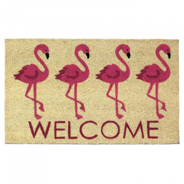 Flamingo Welcome Mat - Red Dragon Unleashed