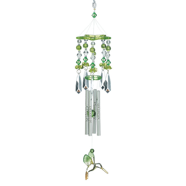 Green Hummingbirds Chime - Red Dragon Unleashed