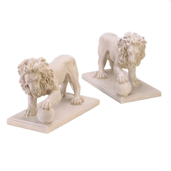 Guardian Lion Statue Pair - Red Dragon Unleashed