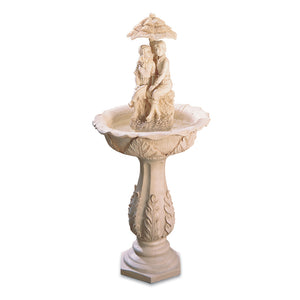 Couple Water Fountain - Red Dragon Unleashed