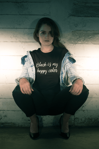 Black Is My Happy Color T-Shirt - Melmon Squad