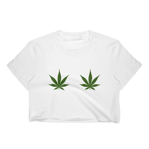 Pot Leaf Crop Top - Melmon Squad