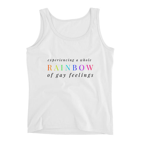Experiencing A Whole Rainbow Of Gay Feelings Tank Top - Melmon Squad