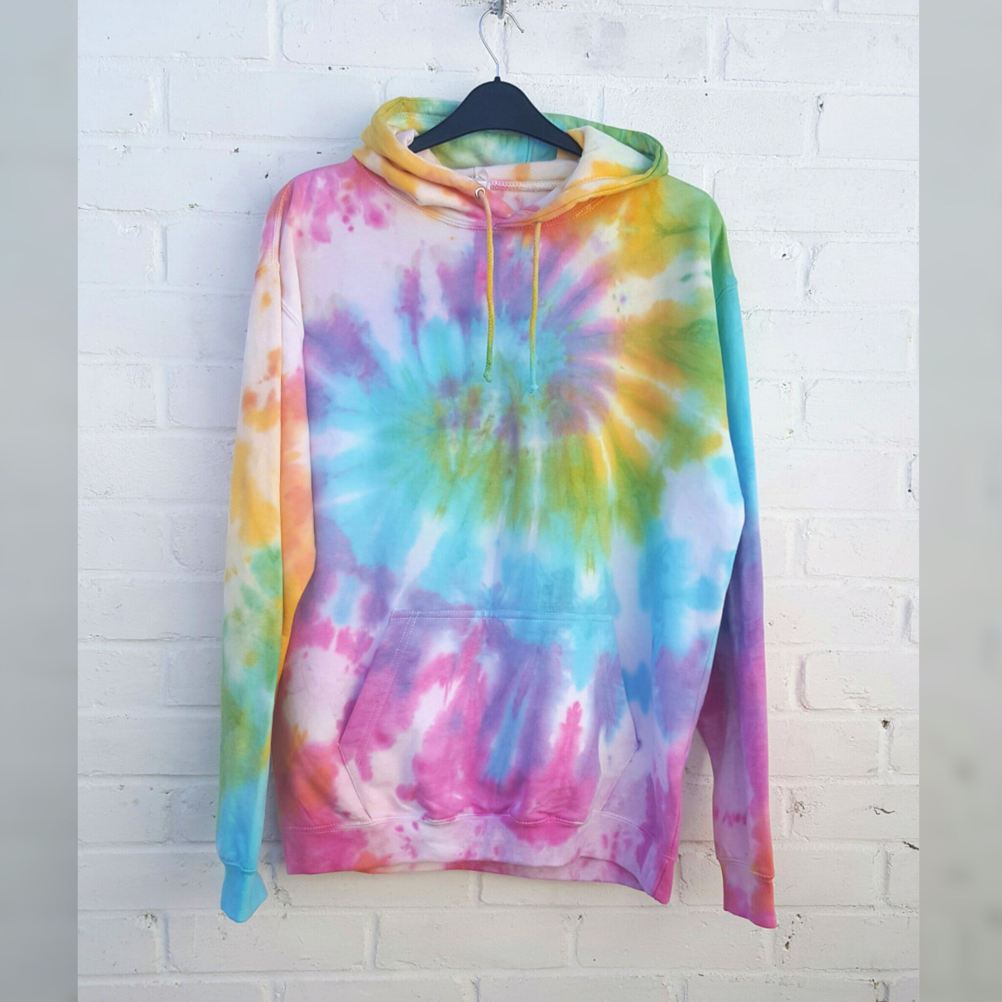 Tie Dye Hoodie Pink Yellow Blue ALL sizes UNISEX