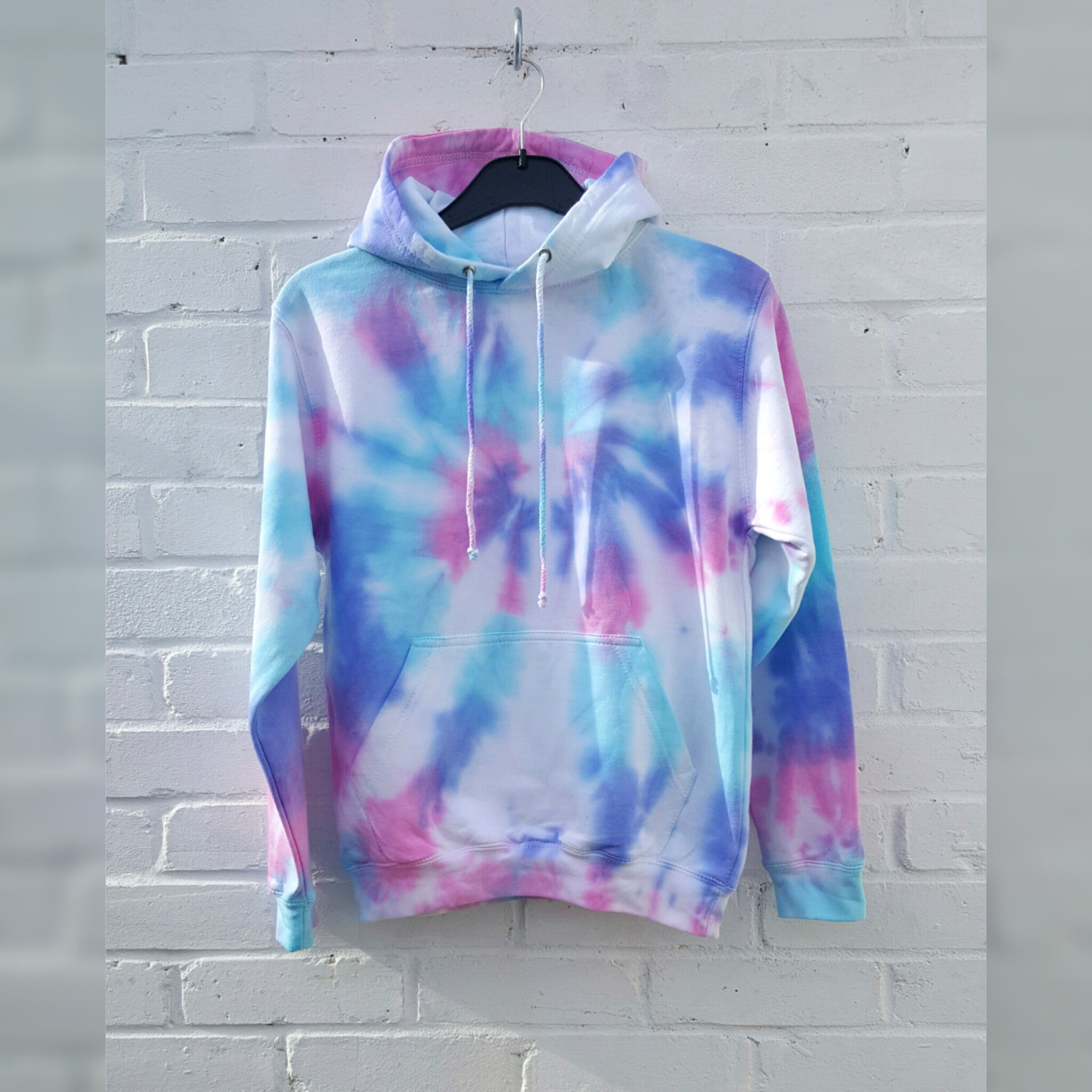 Tie Dye Hoodie Pink Purple Blue ALL sizes UNISEX