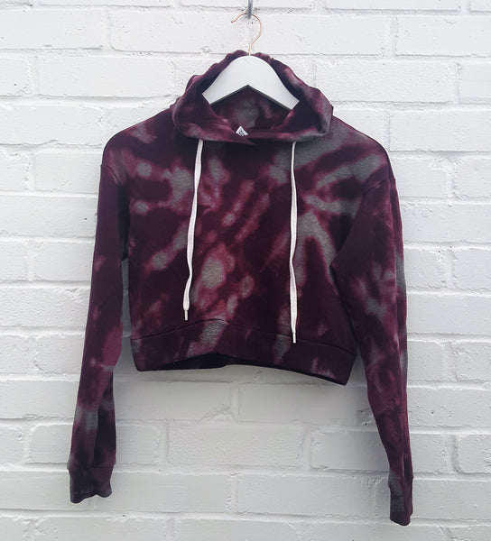 Cropped Hoodie Bleached Burgundy size XS