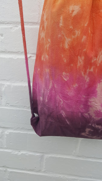 Tie Dye Hippy Bag Cotton Drawstring