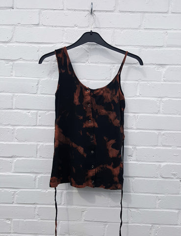 Bleach Tie Dye Vest Top Upcycle