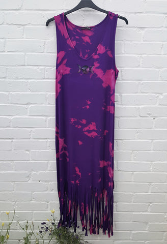 Triple Moon Fringe Maxi Dress UK 20