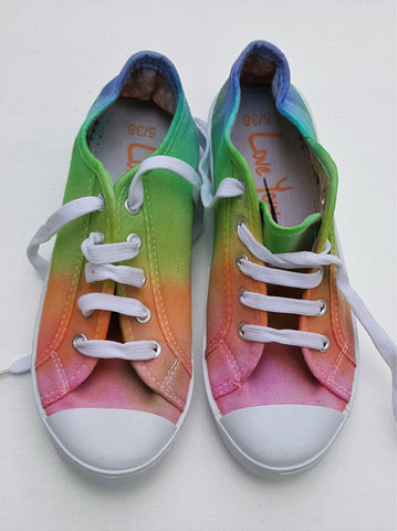 Rainbow Tie Dye Shoes UK 5 / EU 38