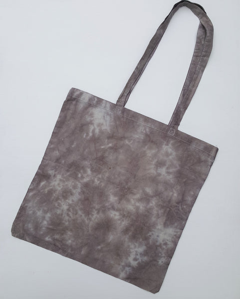 Grey Tie Dye Hippy Shopper Bag Cotton