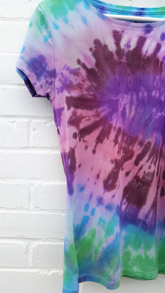 Tie Dye Upcycled T-shirt UK 14 / US 10