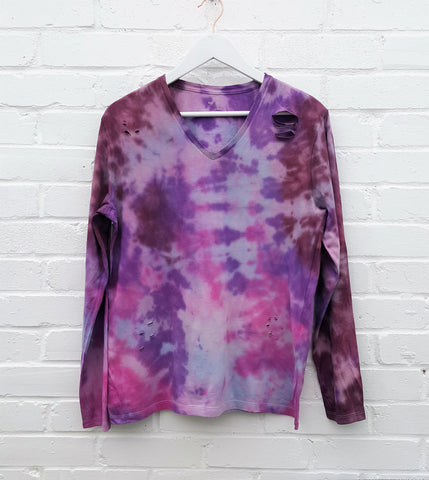 Ethical Tie Dye Long Sleeve T-shirt Men's