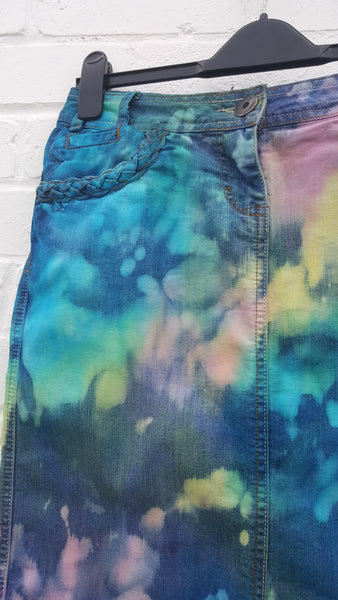 Pastel Denim Skirt sustainable