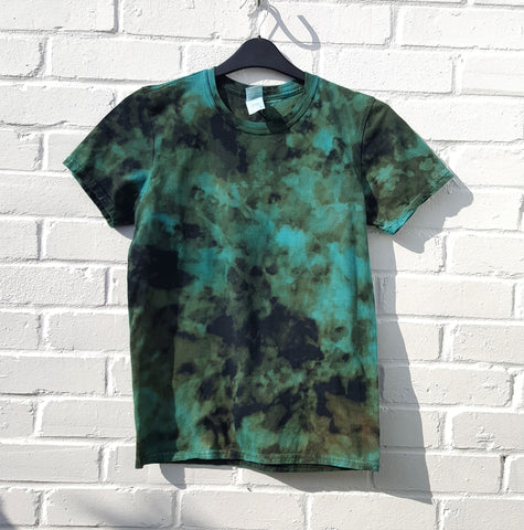Men's Bleached T-shirt Blue