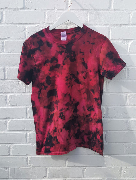 Acid Wash T-shirt in Electric Pink Unisex