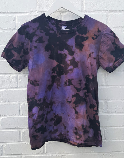 bleach acid wash t shirt