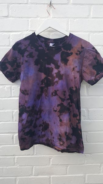 Acid Wash T-shirt in Electric Purple Unisex