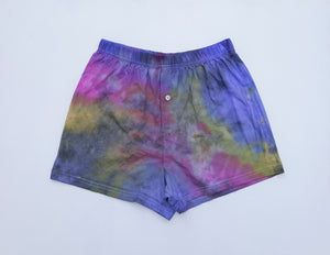 Tie Dye Men's Boxer Shorts S Pink Purple Yellow