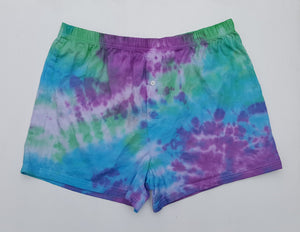Green & Purple Men's Boxer Shorts XL Tie Dye