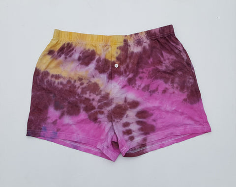 Tie Dye Men's Boxer Shorts L
