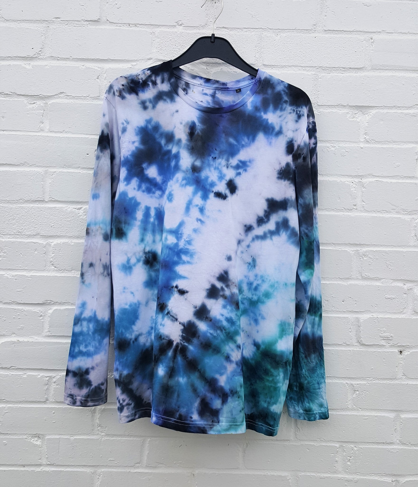 Organic Cotton Ice Dye Long Sleeve T-shirt Mens
