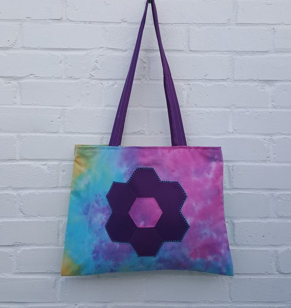 Recycled Eco-Friendly Shopper Bag Tie Dye Cotton