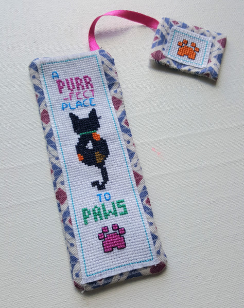 Cross Stitch Cat Bookmark Kit