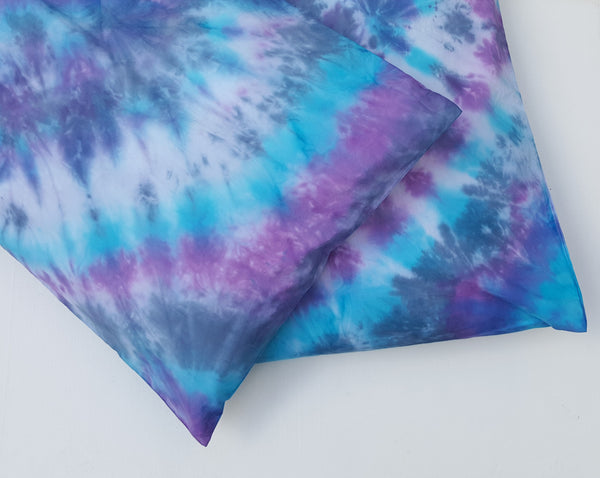 Tie Dye Pillowcases Blue