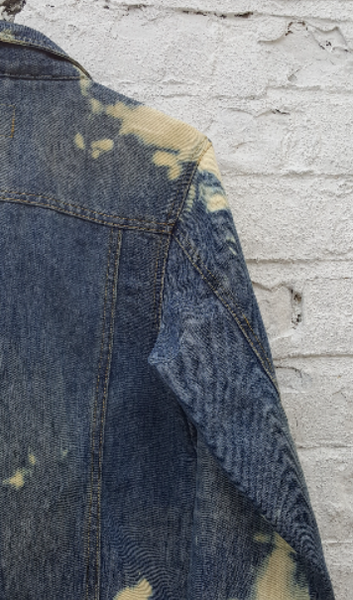 Upcycled Bleach Denim Jacket to fit UK size 12 or US size 8 Women