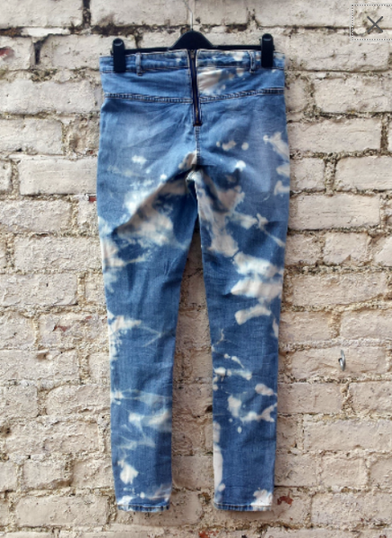 Upcycled Skinny Jeans Bleach UK 14 / US 10