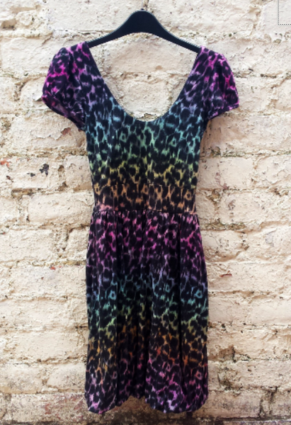 Rainbow Leopard Mini Dress