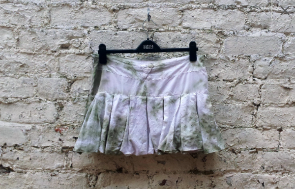 Olive Green Upcycled Skirt UK 12 / US 8