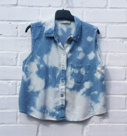 denim crop shirt ethical