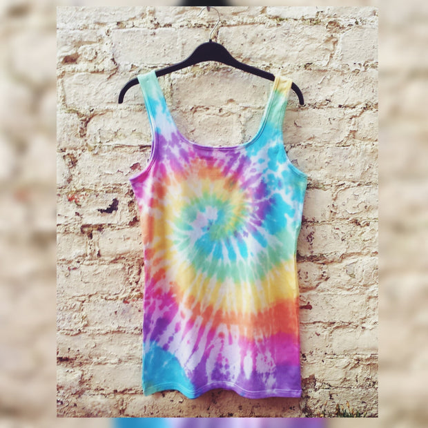 Rainbow Tie Dye Tank Top ALL SIZES Festival Clothing Hippie Clothes psychedelic trippy LGBT Yoga Tank Gym Tank