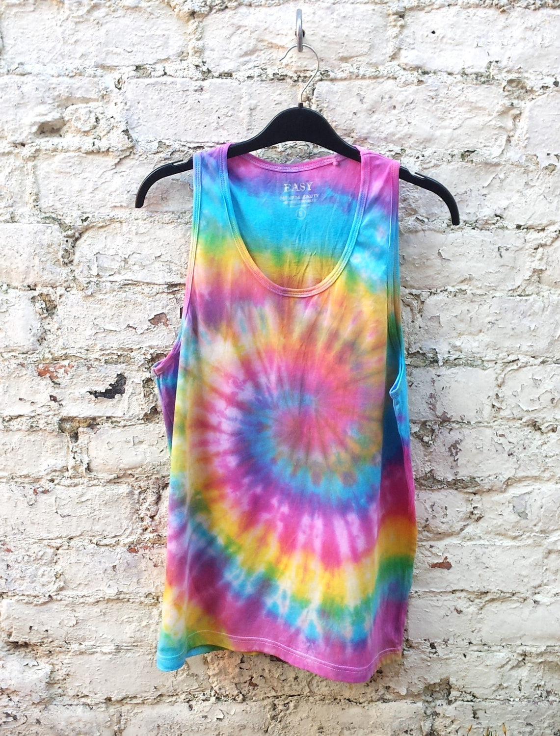 Rainbow Tank Tie Dye Mens Tank Top Rainbow Spiral Tie Dye ALL SIZES Hippie Boho Festival Mens Tanks Summer Tops Yoga Men Beach Gym Tanks