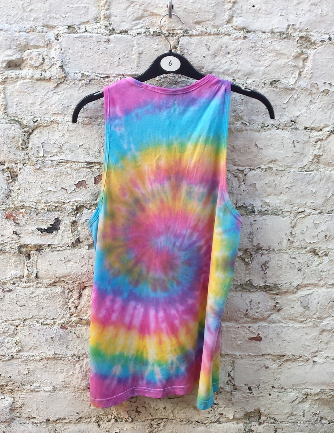 8c8d4ed68ff1d9 Rainbow Tank Tie Dye Mens Tank Top Rainbow Spiral Tie Dye ALL SIZES Hippie  Boho Festival